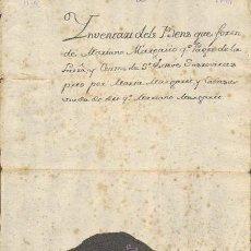 Sellos: TIMBROLOGIA.1799. FILIGRANA (MARCA DE AGUA - WATERMARKING): CORAZON CON ESPADAS. Lote 35444299