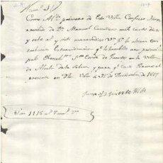 Sellos: TIMBROLOGIA.1817. FILIGRANA (MARCA DE AGUA - WATERMARKING): CETRO ABAD. Lote 35444857
