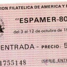 Sellos: ENTRADA ESPAMER 80. Lote 35611131