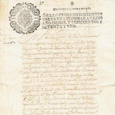 Sellos: TIMBROLOGIA.CARLOS II.S PRIMERO.272 MARAVED.AÑO 1671. Lote 35657849