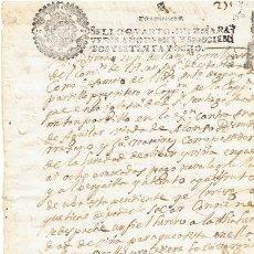 Sellos: TIMBROLOGIA.CARLOS II.S QUARTO.10 MARAVEDIS.AÑO 1678. Lote 35658477