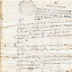 Sellos: TIMBROLOGIA.CARLOS III.S QUARTO.20 MARAVEDIS.AÑO 1762. Lote 35658775
