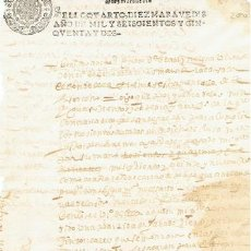 Sellos: TIMBROLOGIA.FELIPE IV.S QUARTO.10 MARAVEDIS.AÑO 1652. Lote 35659342