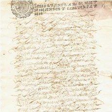 Sellos: TIMBROLOGIA.FELIPE IV.S QUARTO.10 MARAVEDIS.AÑO 1656. Lote 35659581