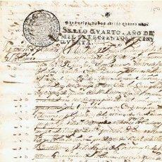 Sellos: TIMBROLOGIA.FERNANDO VI.S QUARTO.4 MARAVEDIS.AÑO 1750. Lote 35791636