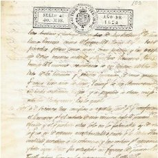 Sellos: TIMBROLOGIA.FERNANDO VII.SELLO 4º.40 MARAV.AÑO 1824. Lote 35791807