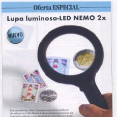 Sellos: LUPA LUMINOSA-LED NEMO 2X. Lote 36352672