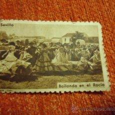 Sellos: ANTIGUO SELLO DE SEVILLA BAILANDO EN EL ROCIO, FOURNIER - VIRGEN DEL ROCIO. Lote 37520322