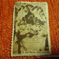 Sellos: ANTIGUO SELLO DE SEVILLA R. DEL ROCIO UNA CARRETA, VIRGEN DEL ROCIO FOURNIER. Lote 37520348