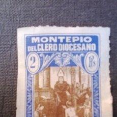 Sellos: SELLO MONTEPIO DEL CLERO DIOCESANO 2 PTS. Lote 38850942