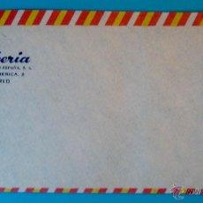 Sellos: SOBRE AEREO IBERIA AÑO 1958, SOBRE BORDES ROJO Y AMARILLO NUEVO SIN CIRCULAR. Lote 40574080