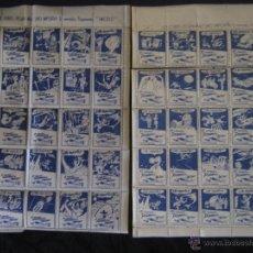 Sellos: SELLOS CIERRASOBRES DE PUBLICIDAD PEGAMENTO IMEDIO,AÑOS 40,COLECCION DE 50 PEQUEÑAS LITOGRAFIAS. Lote 41283043