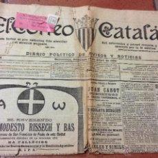 Sellos: EXCEPCIONAL PORTADA ANTIGUO PERIÓDICO EL CORREO CATALAN - AÑO 1904 - CON SELLO DE CORREO CONCERTADO . Lote 41514470