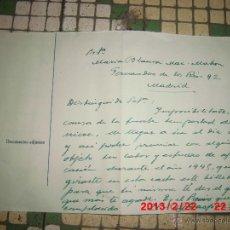 Sellos: CARTA A LA PINTORA BLANCA MAC MAHON PREMIO GRACIOSO . Lote 41747322