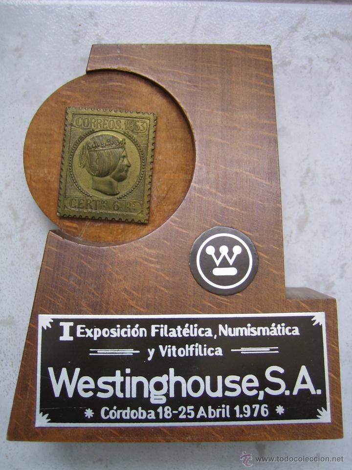 I EXPOSICION FILATELICA, NUMISMATICA Y VITOLFILICA. WESTINGHOUSE S.A. CORDOBA 1976 (Sellos - Material Filatélico - Otros)
