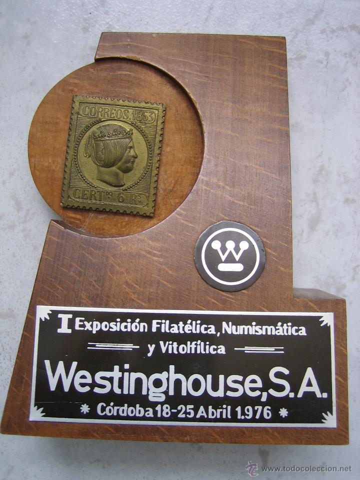 Sellos: I EXPOSICION FILATELICA, NUMISMATICA Y VITOLFILICA. WESTINGHOUSE S.A. CORDOBA 1976 - Foto 2 - 42417874