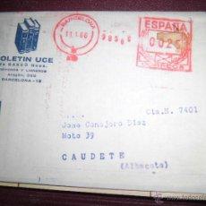 Sellos: SELLO CUÑO ESPAÑA Y BARCELONA ANTIGUO EN REVISTA CARTA 1966 CORREOS TIMBRE. Lote 43659737