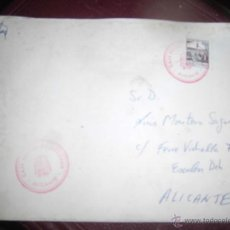 Sellos: CARTA CON SELLO TIMBRE DE AUXILIAR DE CORREOS DE ALICANTE. Lote 43708225
