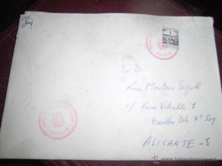 Sellos: CARTA CON SELLO TIMBRE DE AUXILIAR DE CORREOS DE ALICANTE - Foto 2 - 43708225