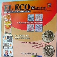 Sellos: REVISTA FILATELIA Y NUMISMATICA EL ECO-AGOSTO 2012-SELLOS Y MONEDAS-VER FOTOS ADICIONALES. Lote 43971628