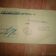 Sellos: SOBRE ALICANTE POSTAL SELLO OFICIAL 1957 . Lote 44026922
