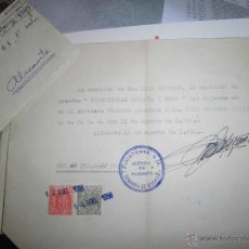 Sellos: FINISTERRE ALICANTE 1951 CARTA SELLO SOBRE ENTIERRO FUNEBRE. Lote 44034709