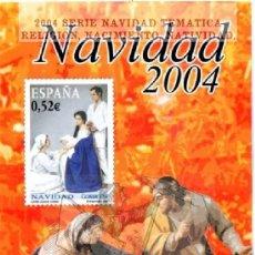 Sellos: 2004 SERIE NAVIDAD TEMATICA RELIGION, NACIMIENTO, NATIVIDAD. HOJA INFORMATIVA DE SELLOS. Lote 44305497