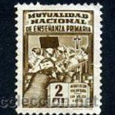 Sellos: VIÑETA USADA - MUTUALIDAD NACIONAL DE ENSEÑANZA PRIMARIA - 2 PTS - INFANCIA. Lote 44886339