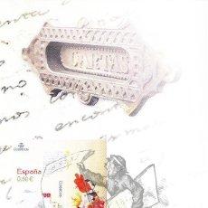 Sellos: 2008 SERIE EUROPA TEMA LAS CARTAS DE CORREOS FOLLETO HOJA DIPTICO POSTAL INFORMACION SELLOS CORREOS. Lote 45414452