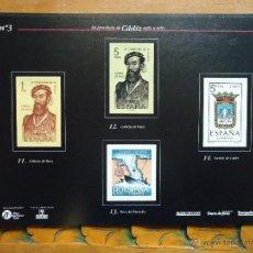 Timbres: HOJA DE LA PROVINCIA DE CADIZ SELLO A SELLO, MIRAR MAS HOJILLAS EN MI PAGINA, SE PUEDEN DESMONTAR. Lote 46115287