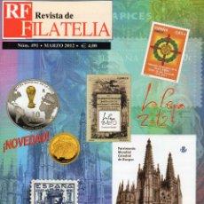 Sellos: REVISTA DE FILATELIA MARZO 2012 Nº 491 . Lote 46684283