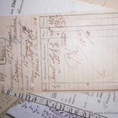 Sellos: ANTIGUO CARNET MANUSCRITO DE FILATELIA 1916 MALDENSON PARIS A COLOMER EN BARCELONA. Lote 47398808
