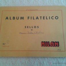 Sellos: ALBUM FILATELICO DE SELLOS MILAN Nº 2 SELLOS EXTRANJEROS ALREDEDOR DE 270 DE LOS AÑOS 50-60. Lote 48768595