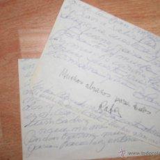 Sellos: CARTA CONJUNTA MAZARRON 1982 DE BLANCA MAC MAHON Y RAFAEL REYES TORRENT FIRMA DEL PINTOR. Lote 49563099
