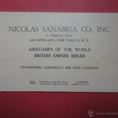 Sellos: NICOLÁS SANABRIA. AIRSTAMPS OF THE WORLD (VACÍO). Lote 50288049