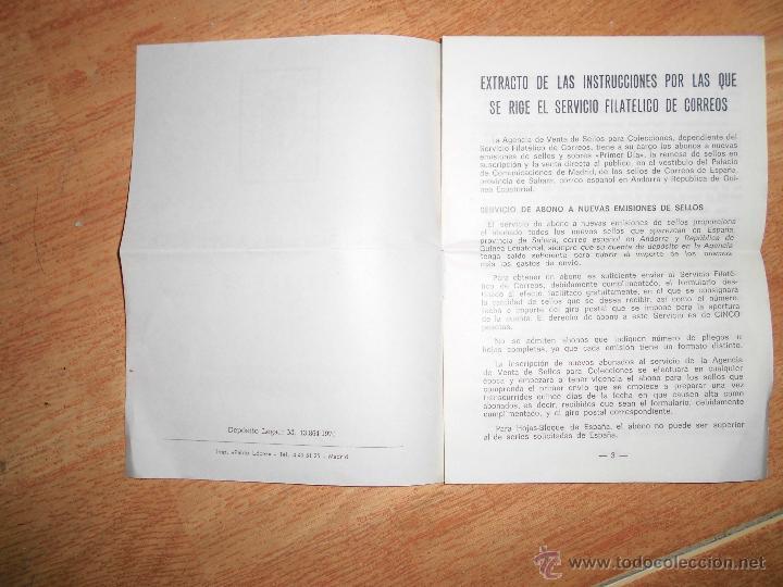 Sellos: SERVICIO FILATELICO DE CORREOS EXTRACTO MADRID 1970 PAGINAS 8 - Foto 2 - 50292158