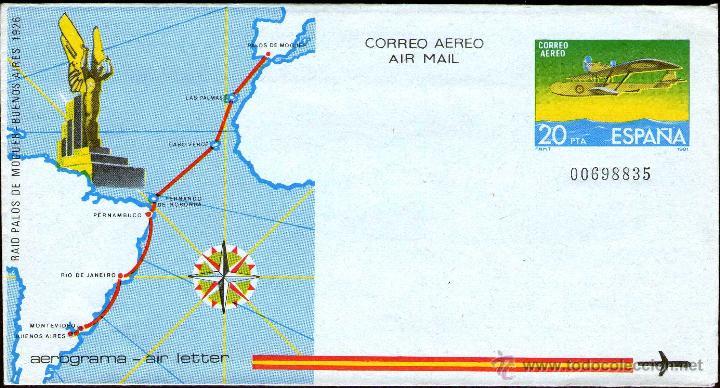 AEROGRAMAS AÑO 1981 ESPAÑA Nº 201 SIN CIRCULAR (Sellos - Material Filatélico - Otros)