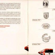 Sellos: TRÍPTICO VII EXPOSICIÓN FILATÉLICA DE ALCOBENDAS (FERROCARRILES). MARCAS PREFILATÉLICAS. MARZO 2001. Lote 51675972