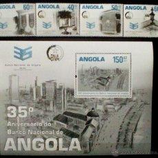 Sellos: BANCO NACIONAL DE ANGOLA HOJA BLOQUE + 4 SELLOS NUEVOS DE ANGOLA. Lote 176685523