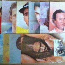 Sellos: 11 FOLLETOS INFORMATIVOS DE CORREOS SERIE COMPLETA DE PERSONAJES FAMOSOS AÑO 2000. Lote 51798773