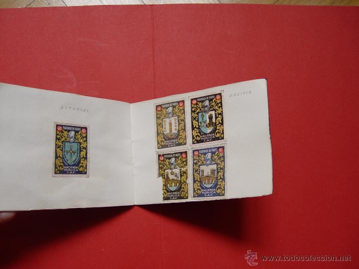 Sellos: ESCUDOS ESPAÑOLES (FÓSFOROS DE PAPEL) (1940-50's) Colección completa: 50 cromos. Coleccionista - Foto 3 - 53679651