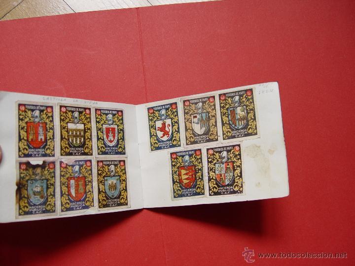 Sellos: ESCUDOS ESPAÑOLES (FÓSFOROS DE PAPEL) (1940-50's) Colección completa: 50 cromos. Coleccionista - Foto 8 - 53679651