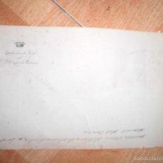 Sellos: MANUSCRITO SIGLO XIX FINALES EN CARTA DUQUE DE PASTRANA SOBRE CENSO NOMRAMIENTOS ETC 1880. Lote 58632611