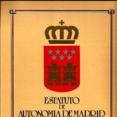 Sellos: ESPAÑA 1984(28-NOV/2-DIC) (DOCUMENTO FILATELICO) COMUNIDAD-1 'ESTATUTO AUTONOMIA DE MADRID'. Lote 194228106