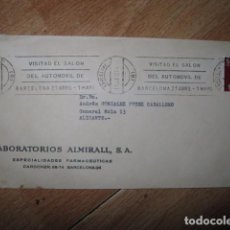 Sellos: SOBRE ANTIGUO LABORATORIOS ALMIRALL FARMACEUTICAS BARCELONA A ALICANTE. Lote 64084611