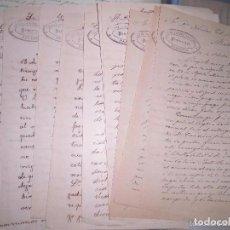 Sellos: LOTE CARTAS MANUSCRITAS PALENCIA PROCURADOR H SANCHEZ A MADRID 1890. Lote 58632913