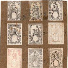 Sellos: NUM007 LOTE DE 12 SELLOS FISCALES. ESPAÑA. DE 1867 A 1869. Lote 86101268