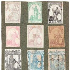Sellos: NUM009 LOTE DE 11 SELLOS FISCALES. ESPAÑA. DE 1871 A 1874. Lote 86102548