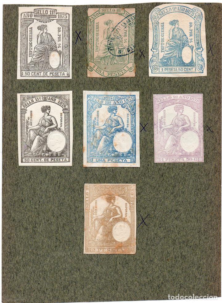 NUM010 LOTE DE 7 SELLOS FISCALES. ESPAÑA. DE 1875 A 1876 (Sellos - Material Filatélico - Otros)