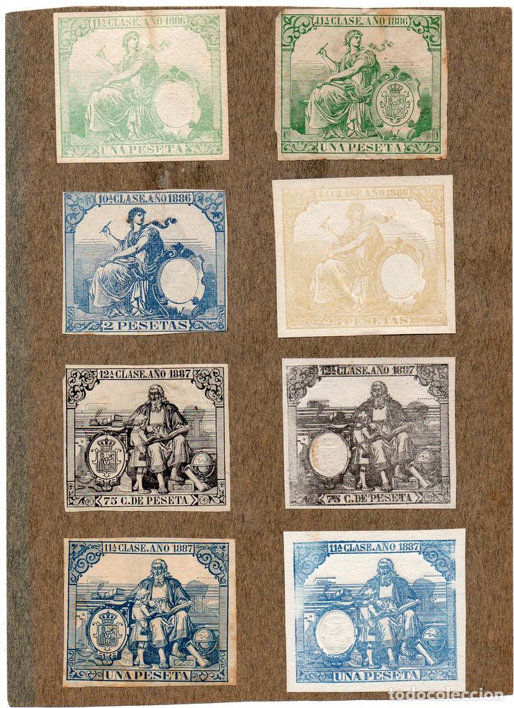 NUM016 LOTE DE 8 SELLOS FISCALES. ESPAÑA. DE 1886 A 1887 (Sellos - Material Filatélico - Otros)